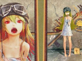 обои Истории монстров - Маленькая блондинка с пончиком фото