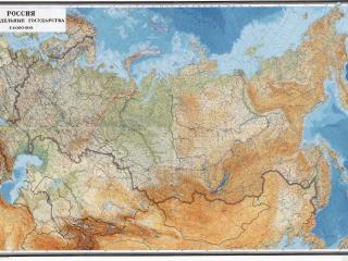 обои Физическая карта России фото