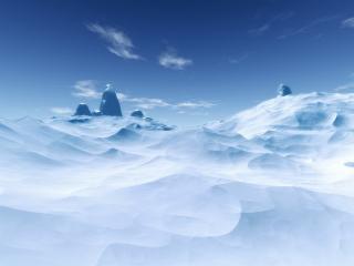 обои Заснеженные горы в ясный день фото