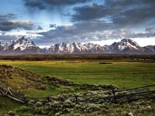 обои Grand Tetons at Sunrise,   Grand Teton National Park,   Wyoming фото