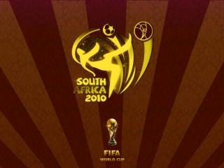 обои South Africa 2010 Logotip Gold фото