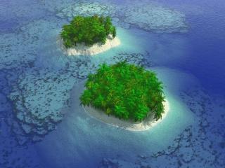 обои Острова в океане фото