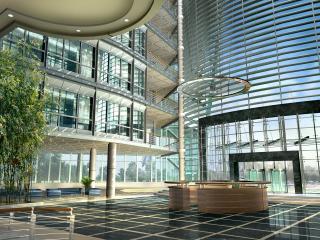 обои Вид из стеклянного здания фото
