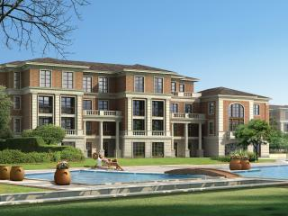 обои Дом перед бассейном фото