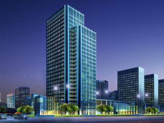обои Вид высотного здания ночью фото