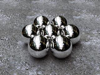 обои 3D iron pool balls фото