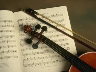 обои Ноты и скрипка фото