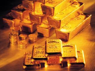 обои Монеты и слитки из золота фото