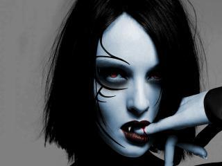 обои Вампирша с прокушенным пальцем фото