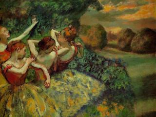 обои Edgar Degas - Four Dancers фото