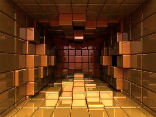 обои Кубики,   отражение,   пространство фото