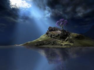 обои Остров,   вода,   фантастика фото