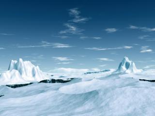 обои Ясный день в снежных безмятежных горах фото