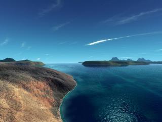 обои Пустынные морские острова фото