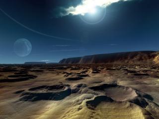обои Песчанные дюны пустынной планеты фото