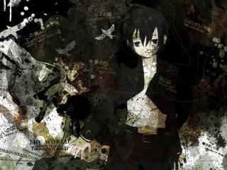 обои Kino no Tabi - девушка на фоне карты фото