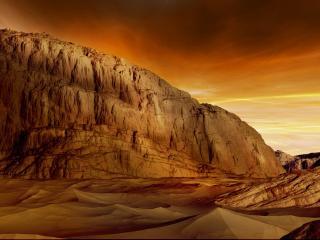 обои для рабочего стола: Желтый каньон в песках