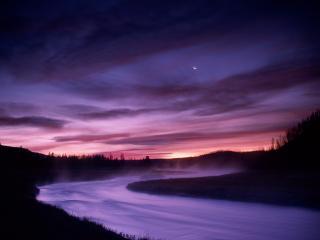 обои Madison River, Yellowstone National Park, Wyoming фото
