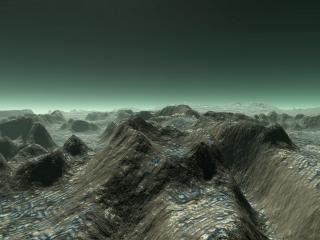 обои для рабочего стола: Фантастические холмы без начала и края