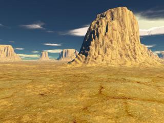 обои для рабочего стола: Песчаные холмы желтой пустыни