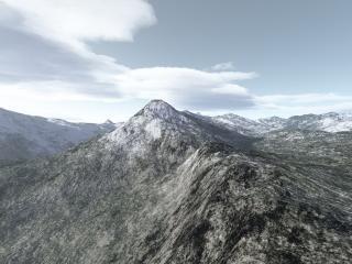 обои для рабочего стола: Пики заснеженных гор