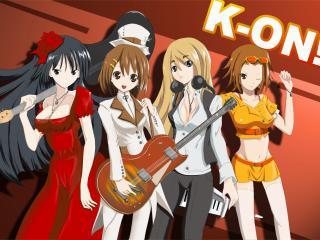 """обои K-On! - Группа девушек """"Чай после занятий"""" фото"""