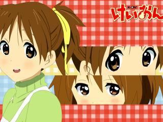 обои K-On! - Хирасава Ю в зеленой одежде фото
