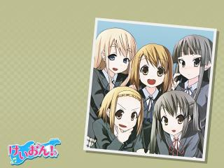 обои K-On! - Фото с пятью девушками фото