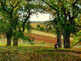 обои Camille Pissarro - The Chestnut Trees at Osny фото