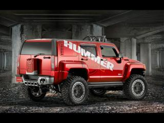 обои 2007 Hummer H3R Off Road Rear And Side фото
