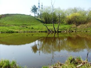 обои Природный весенний пруд фото