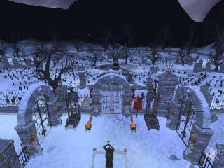 обои Готичное кладбище фото