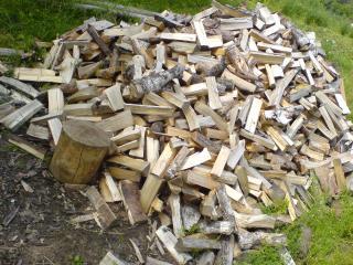 обои для рабочего стола: Куча дров