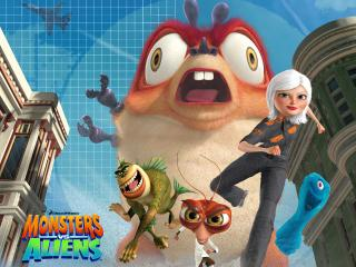 обои All monsters vs aliens фото
