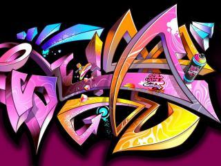 обои Pink Graffiti фото