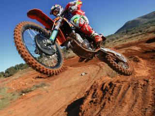 обои Fly Motorcycle in desert фото