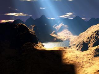 обои Просвет в горах фото