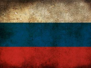 обои Флаг России,  высеченный на скале фото