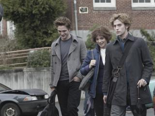 обои Эдвард,  его брат и сестра фото