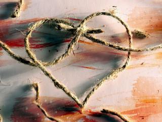 обои Сердце из плетенки  фото