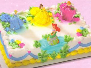 обои Торт с принцессами из мультфильмов Диснея фото