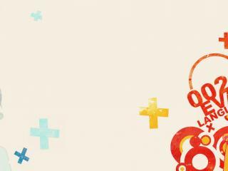 обои Evangelion - Голубая Рей и оранжевая Аска по краям экрана фото