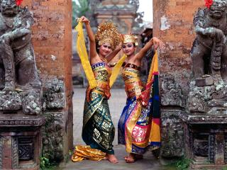 обои Balinese Dancers,   Indonesia фото