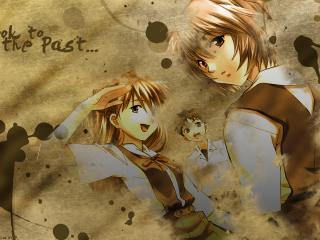 обои Evangelion - Аска,   Рей и Синдзи на бумаге с кляксами фото