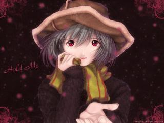 обои Evangelion - Рей в зимней одежде фото