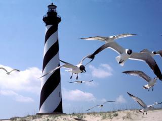 обои Cape Hatteras Lighthouse,   North Carolina фото
