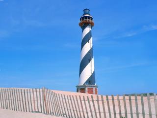 обои Cape Hatteras Lighthouse,   Outer Banks,   North Carolina фото