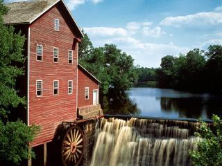 обои Dells Mill,   Augusta,   Wisconsin фото