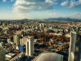 обои Вид города Сеул фото