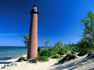 обои Little Sable Lighthouse,   Michigan фото